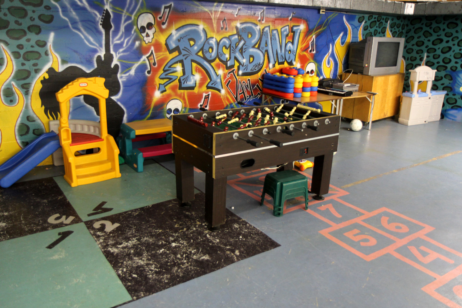 Basement Foosball Table