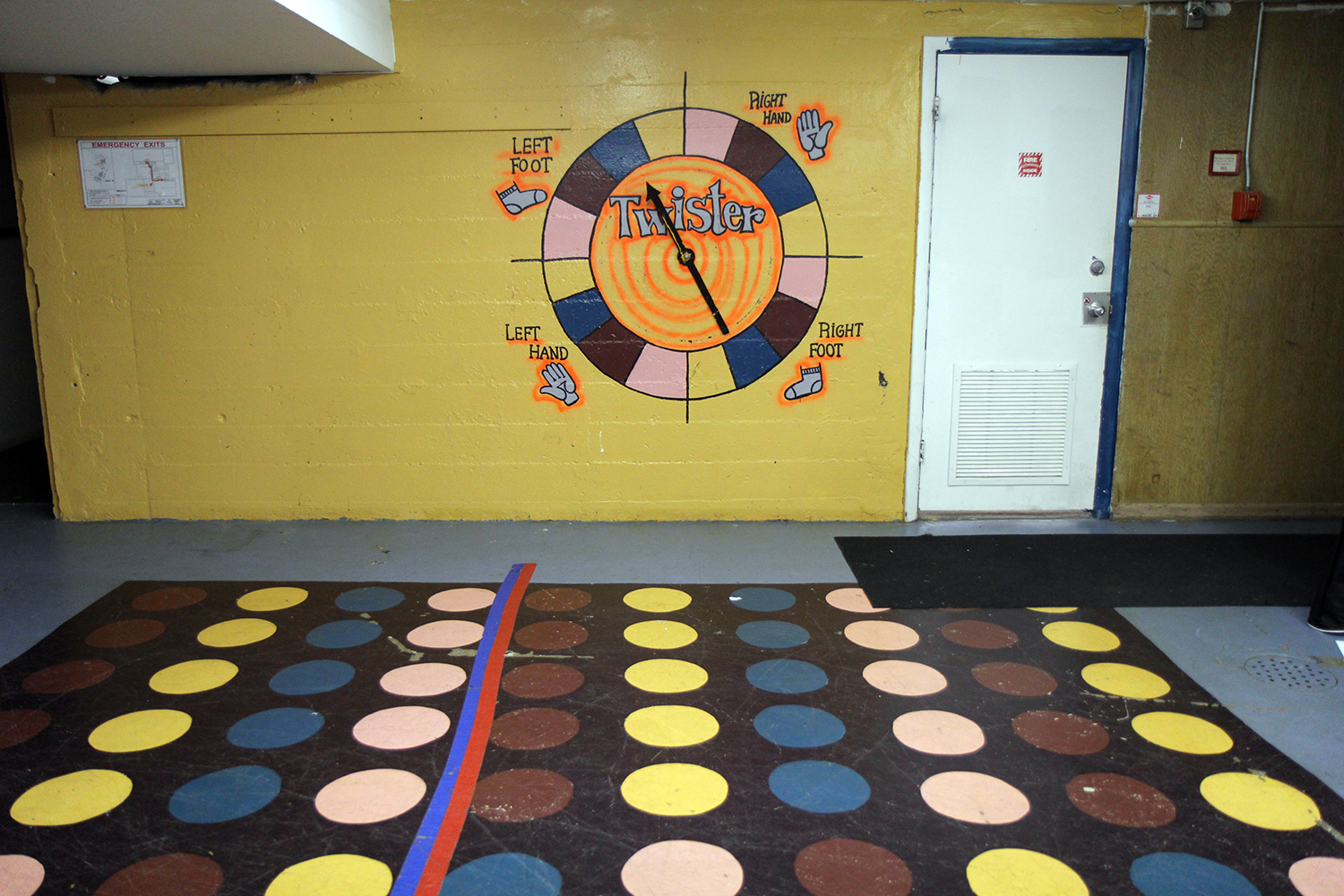 Basement Twister Game