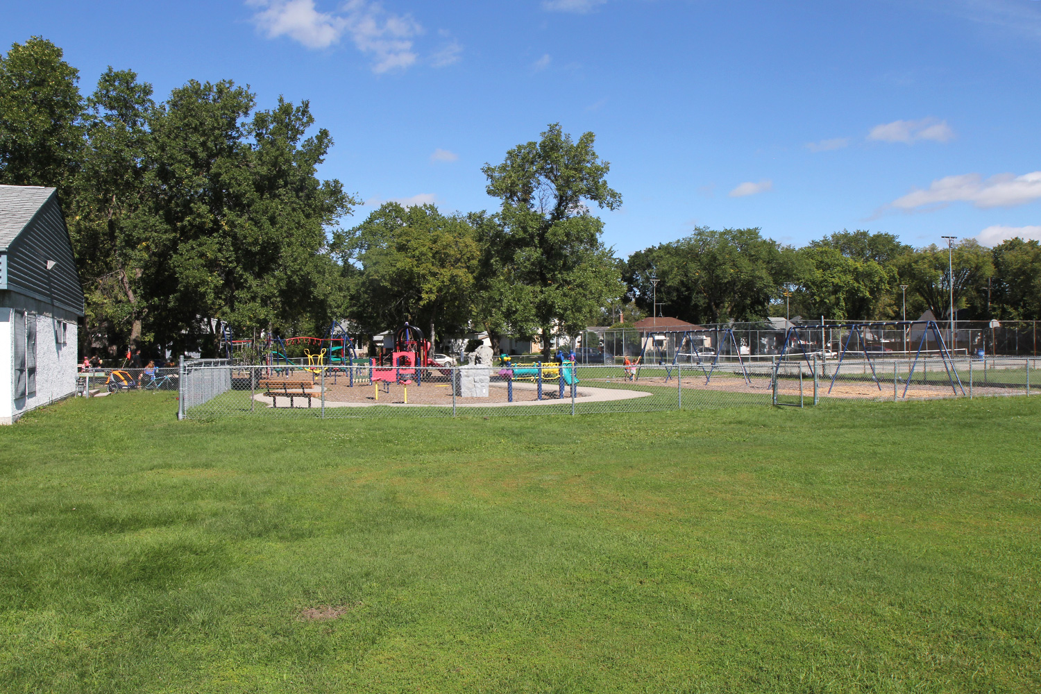 Exterior Rear and Playground