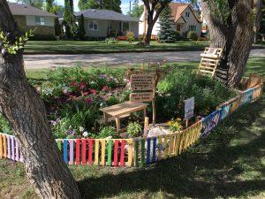 children's garden in summer