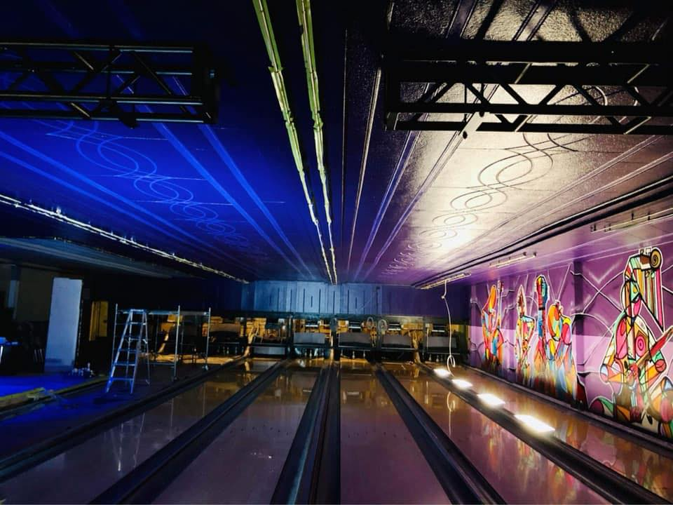 renovated bowling lanes