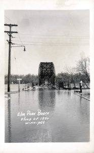 elm park bridge 1950s flood