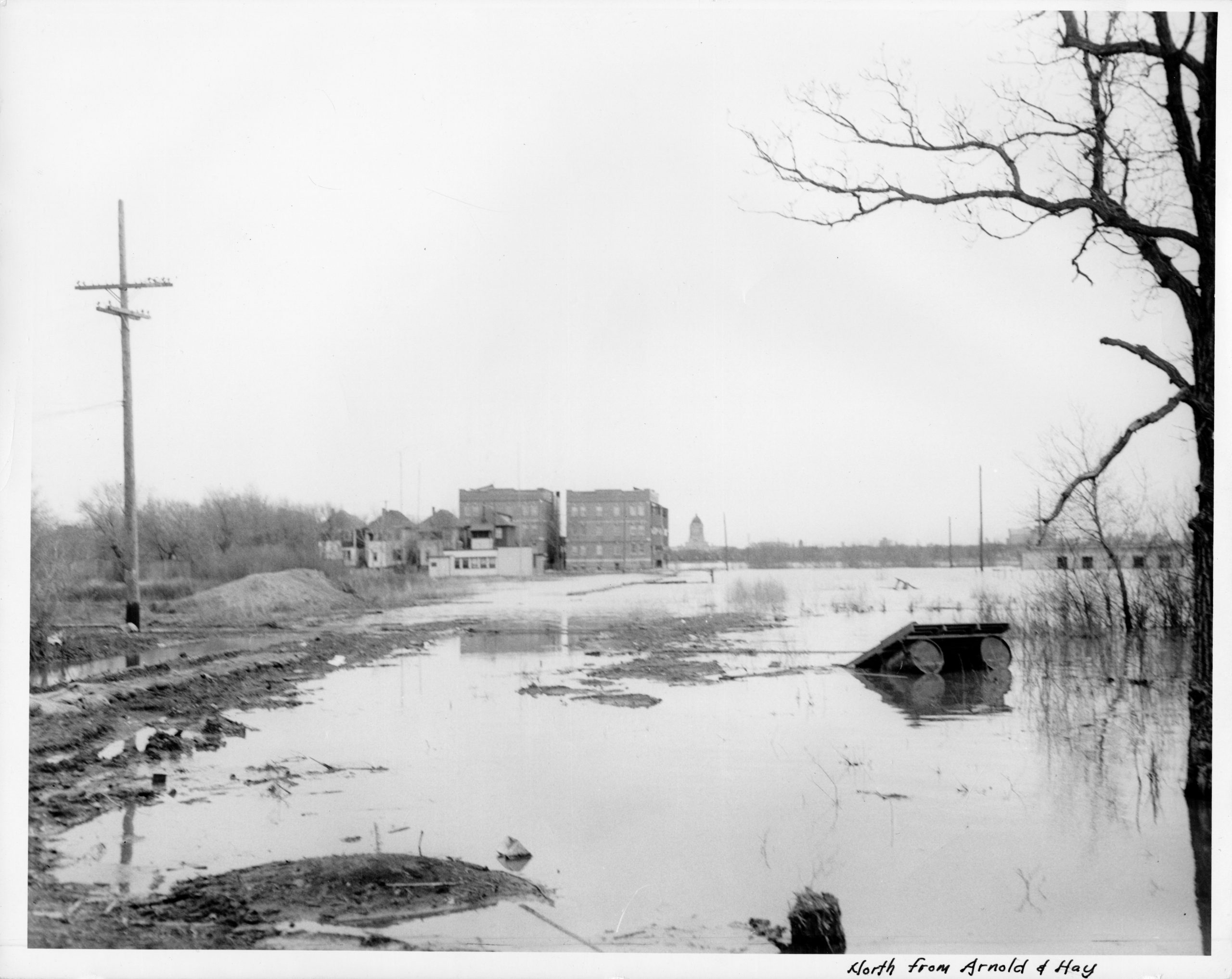 North from Arnold and Hay 1950s flood