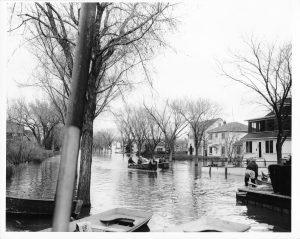 Oakwood ave flood 1950
