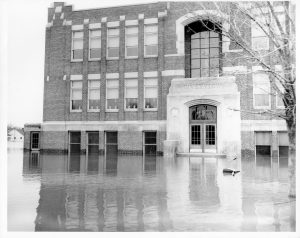 Riverview School flood 1950