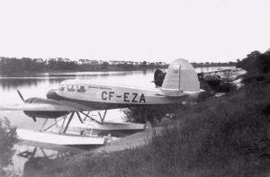 plane on river