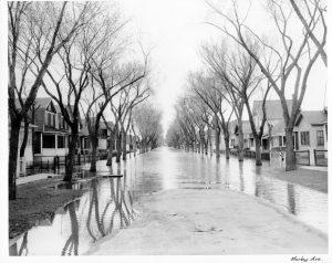 morley ave 1950s flood