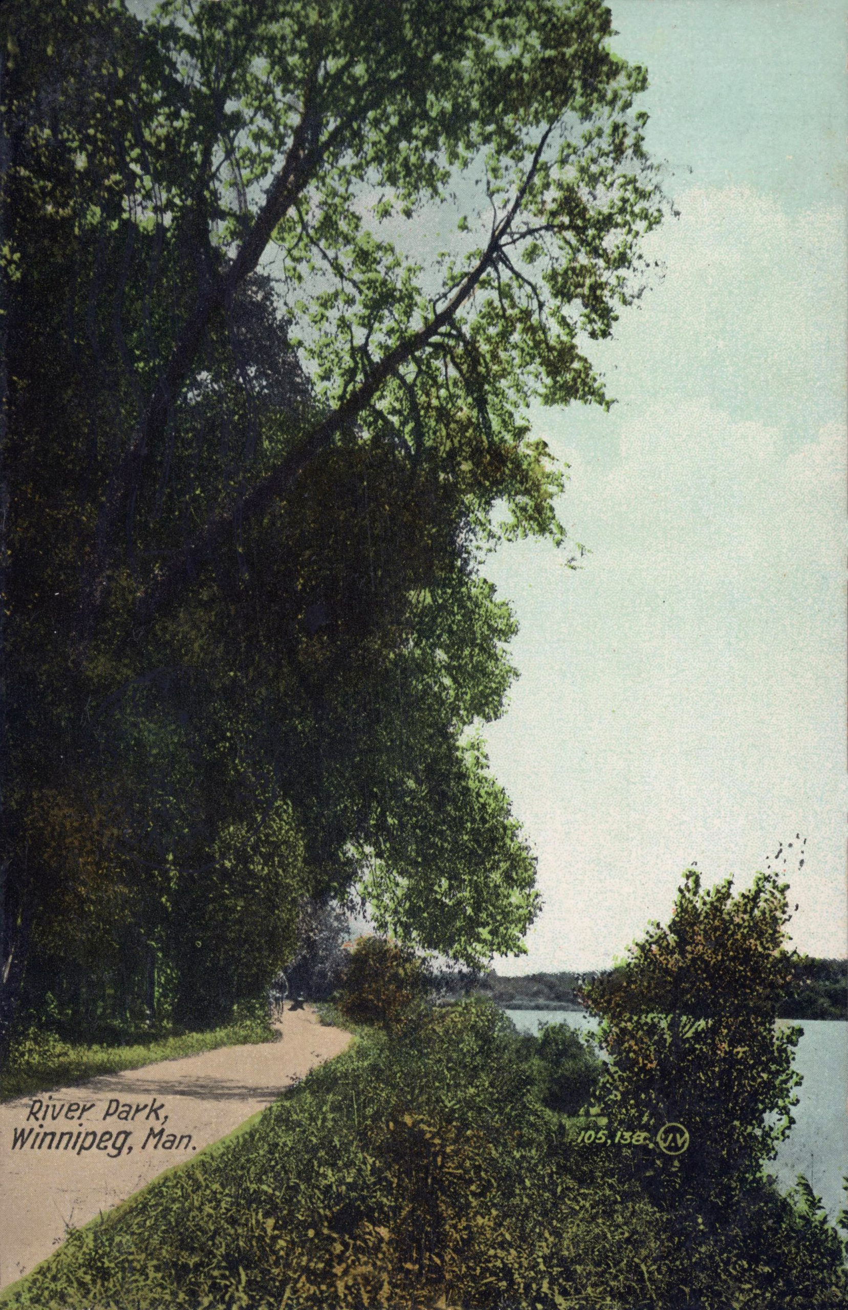 river park wooded path