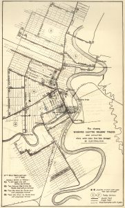 Plan Showing Winnipeg Electric Railway Tracks and Localities where Water Pipes have been Damaged by Electrolysis 1910