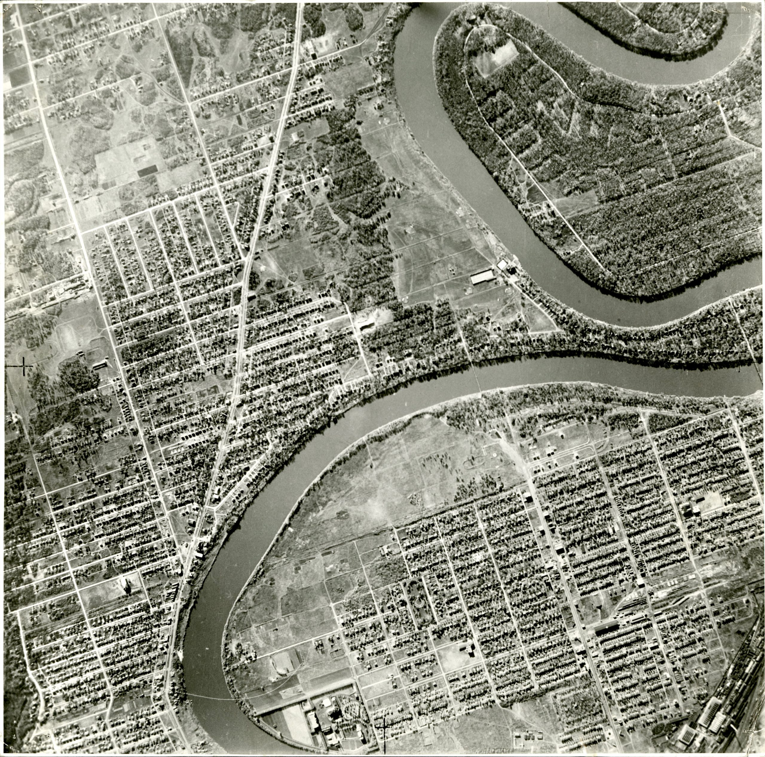 aerial riverview 1940s