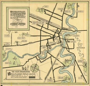 illustrated map 1935