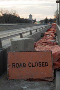 pipes over st. vital bridge sidewalk