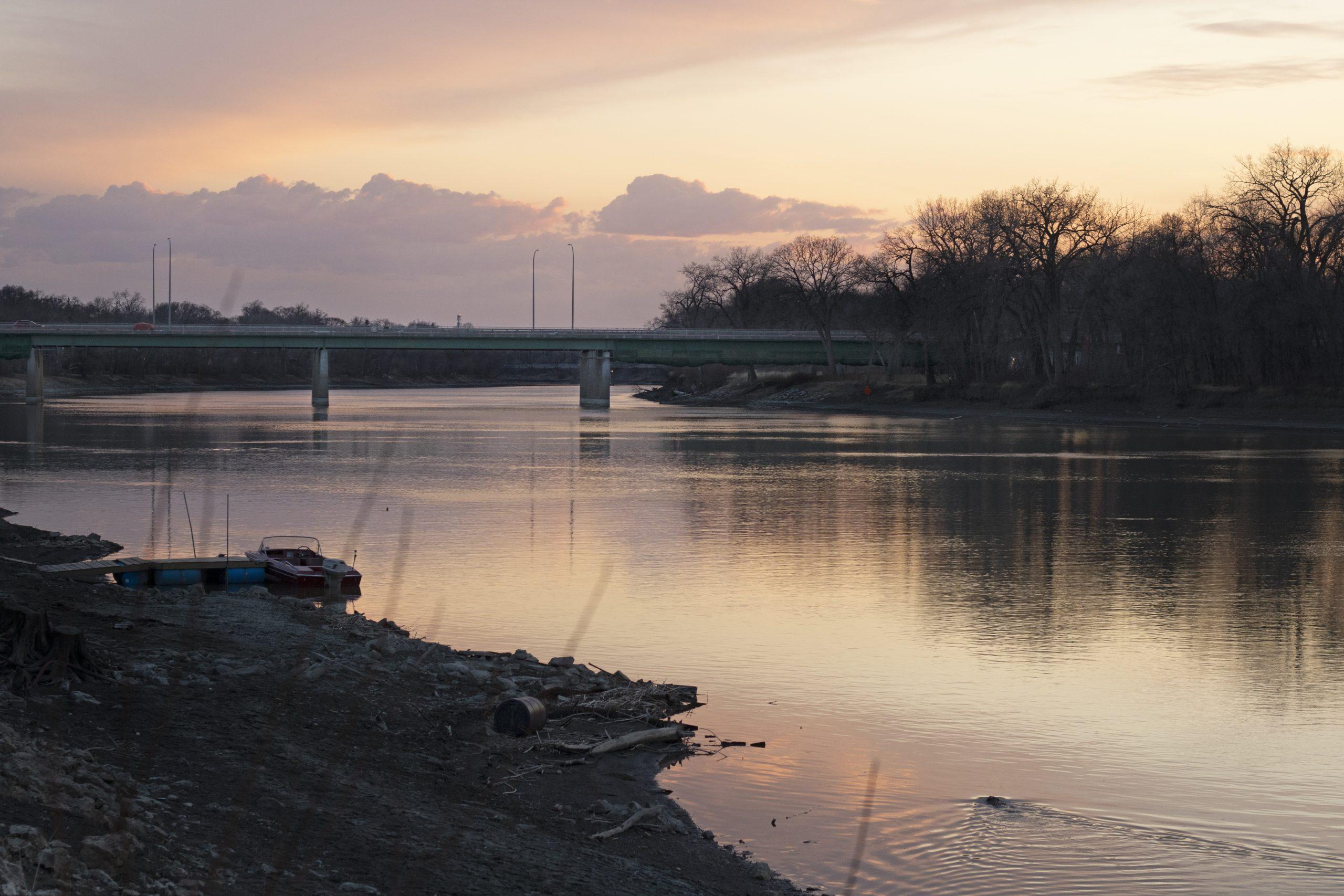 st vital bridge sunset