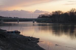 st. vital bridge sunset