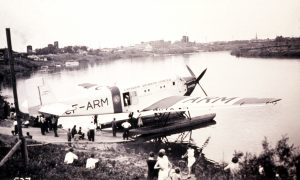 Junkers at dock of Brandon Avenue Float Plane Base