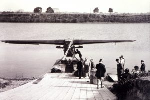 James A. Richardson at Brandon Avenue Float Plane Base