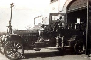 American La France Horse Wagon #1, Type #75 at Fire Station #15 on Osborne St.