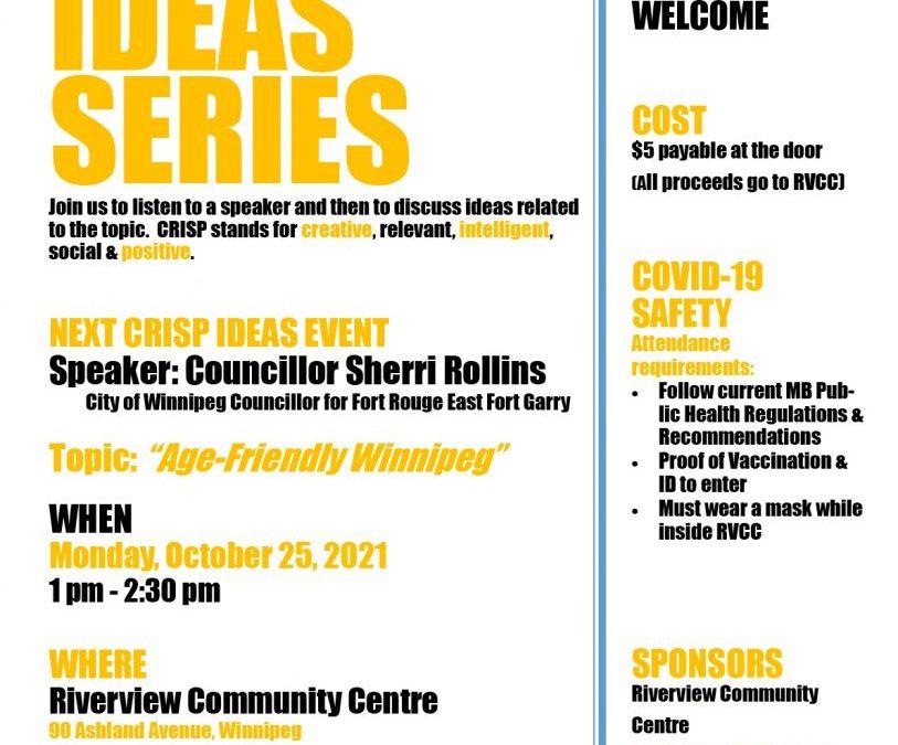 CRISP Ideas: Age Friendly Winnipeg